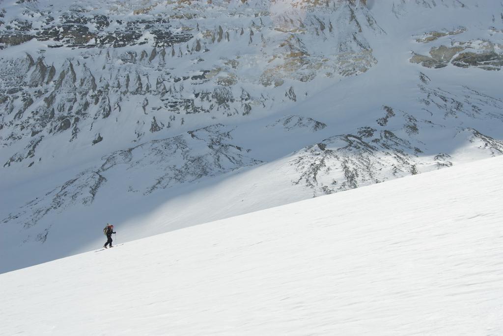 Andy climbs the Saskatchewan Glacier