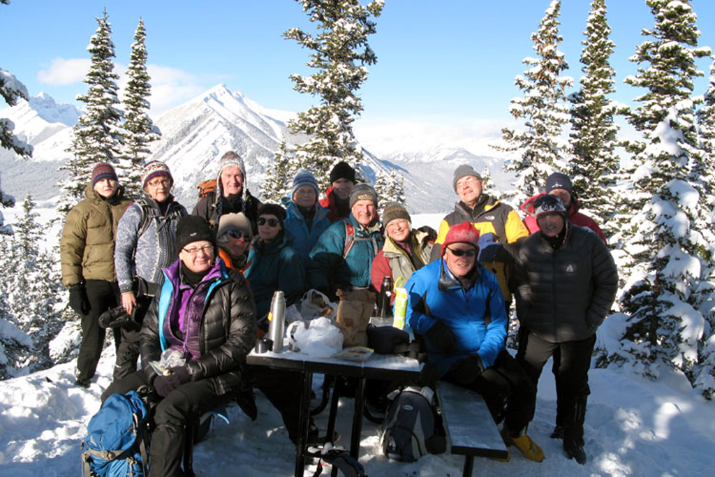 Fondue Tour on the top of Blueberry hill.  One of the rare times that it is very clear and no wind